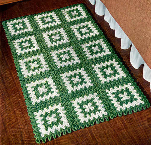 FREE CROCHETED RUG PATTERN Crochet Tutorials