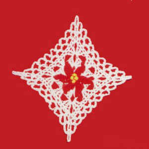 Poinsettia Throw Crochet Pattern | Red Heart