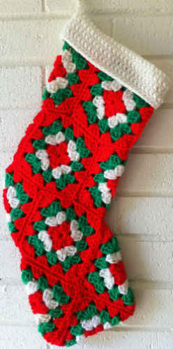 FP310 Granny Square Toe Stocking