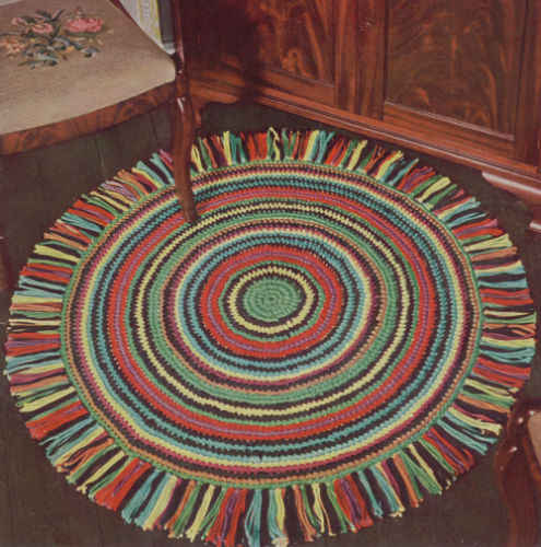 Easy Vintage Crochet Rug Patterns - A Collection of Vintage Easy