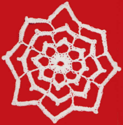 Meiby the Pug: 6 Point Star Afghan Pattern