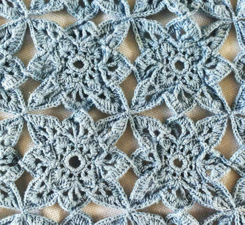 Blue Medallion Table Runner Free Crochet Pattern