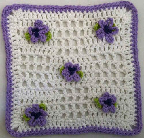 FD029 Lacy Violets Dishcloth_800
