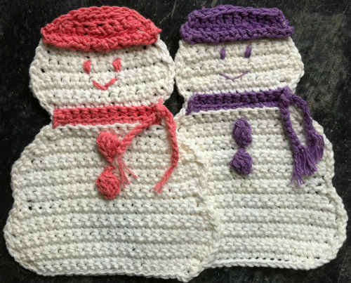 FD036 Snow Lady Dishcloths Carol Ann Marks_800