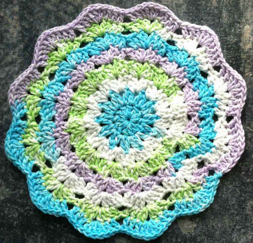 Best Free Crochet ? #60 Colorful Journey Crochet Dishcloth