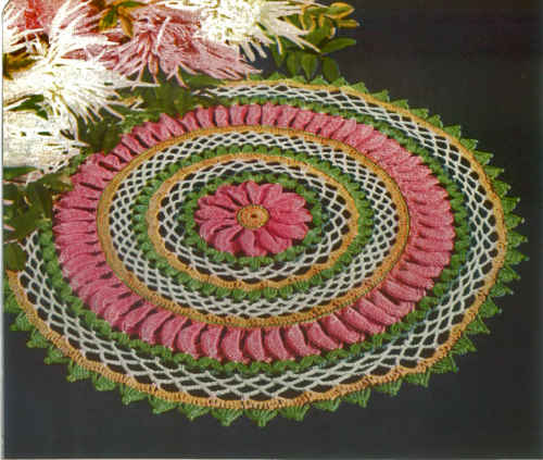 FP267 antique-multi-color-doily