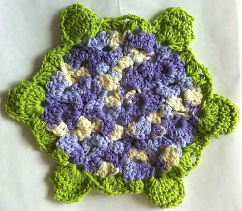 117 Ode To A Hydrangea Crochet Dishcloth Maggie Weldon Maggies Crochet