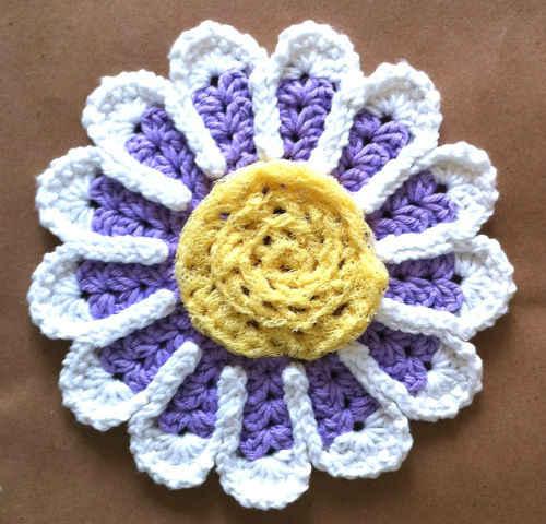 99 Passion Flower Dishcloth Maggie Weldon Maggies Crochet