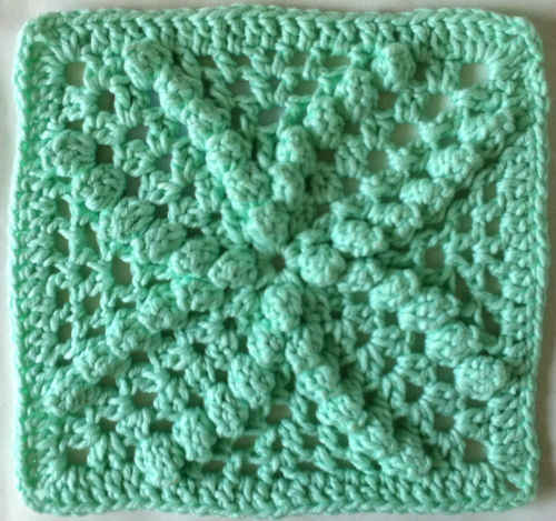 Best Crochet Patterns : 149 Mint Bobbles Crochet Dishcloth - Maggie Weldon Maggies Crochet