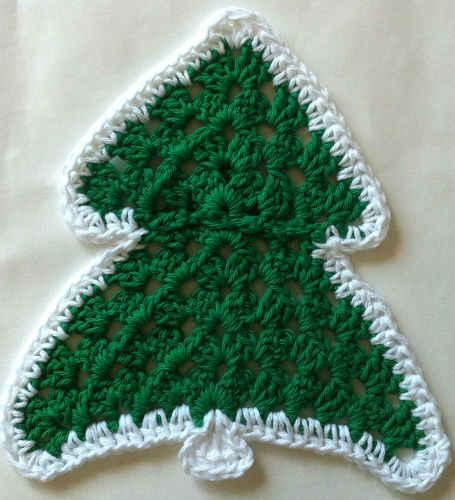 #159 Christmas Tree Crochet Dishcloth ? Maggie Weldon ...