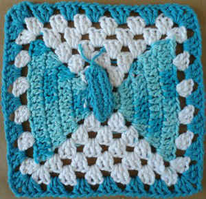 Free Knitting Pattern Butterfly Dishcloth : BUTTERFLY DISHCLOTH CROCHET PATTERN FREE CROCHET PATTERNS