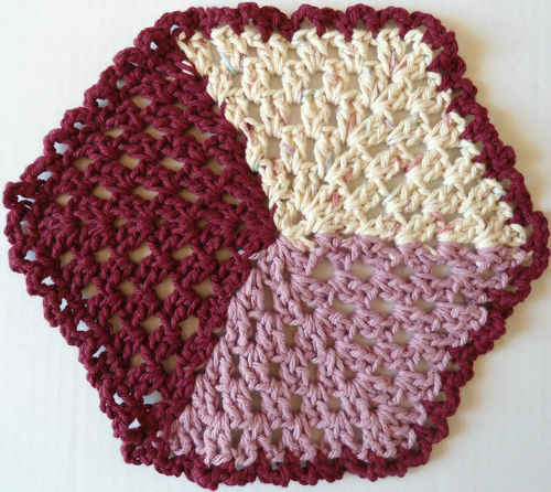 Tumbling Blocks Crochet Afghan Pattern Free : #227 Tumbling Blocks Crochet Dishcloth ? Maggie Weldon ...