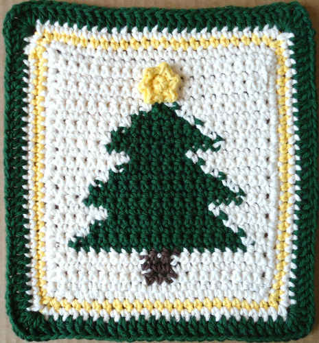 Free Crochet Dishcloth And Potholder Pattern : #232 Tannenbaum Crochet Dishcloth ? Maggie Weldon Maggies ...