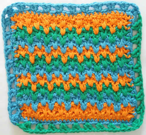 Crochet Stitches In Hindi : 269 Indian Blanket Dishcloth - Maggie Weldon Maggies Crochet