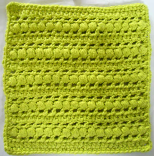 272 Puff Stitch Crochet Dishcloth - Maggie Weldon Maggies Crochet