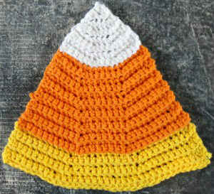 Knitting Pattern Central Headbands : #284 Candy Corn Crochet Dishcloth   Maggie Weldon Maggies Crochet