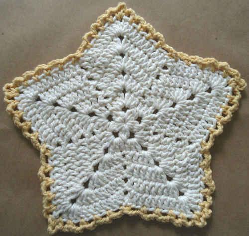 286 Christmas Star Crochet Dishcloth Maggie Weldon Maggies Crochet