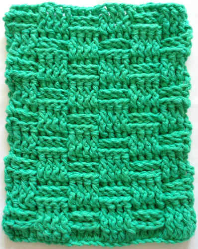 #290 Basket Weave Crochet Dishcloth ? Maggie Weldon ...