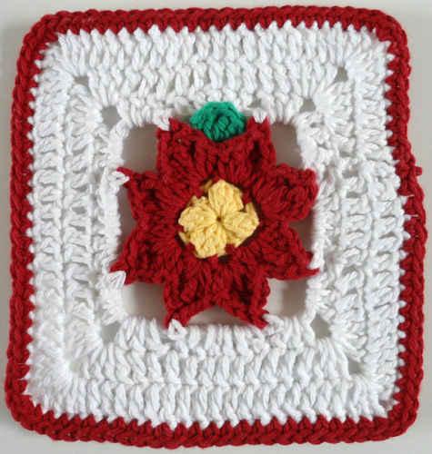 FD338 Poinsettia in a Square - 600