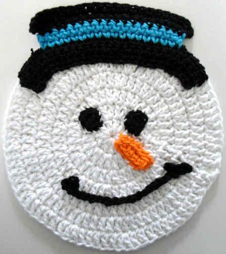 Free Knitted Dishcloth Patterns Snowman : Dishcloths
