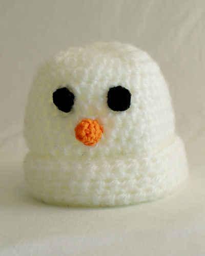 Free Crochet Pattern Baby Snowman Hat 29