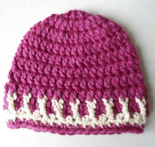 Free Crochet Pattern Hat : Free Crochet Pattern ? Pink & White Hat #5