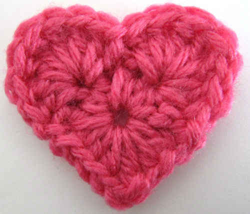Crochet A Heart : Free Crochet Pattern - Small Heart #11