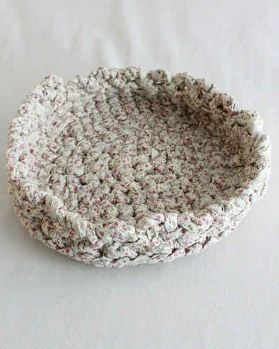 Free Crochet Pattern Pie Plate Rag Basket 44