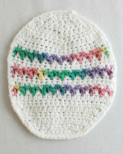 Free Crochet Pattern Easter Egg Dishcloth #62