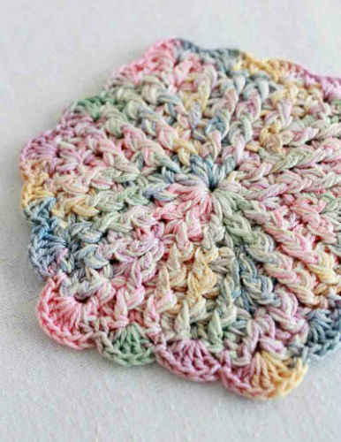 Free Crochet Pattern With Thread : Free Crochet Pattern Vintage Pastels Coaster #92