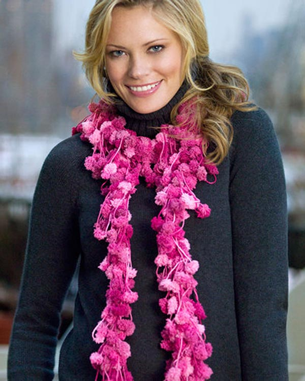 Free Loopy Scarf Crochet Pattern from RedHeart.com