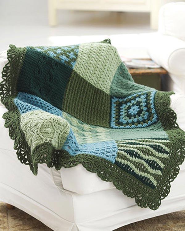 Free Crochet Pattern For Granny Square Sampler : Free Crochet Pattern Sampler Afghan From RedHeart.com