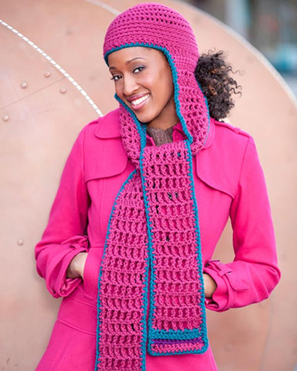 Free Crochet Pattern Hooded Scarf From Redheart