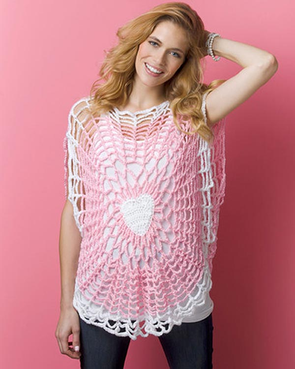 Free Crochet Pattern Lighthearted Tunic From Redheartcom