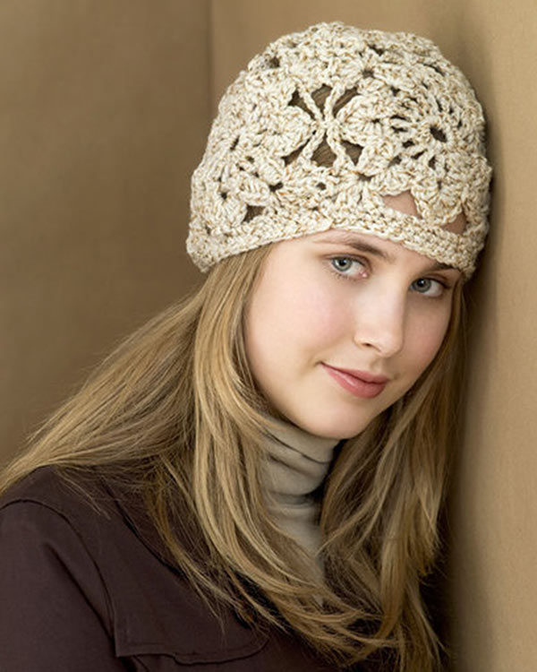 Free Crochet Heart Hat Pattern : Free Crochet Squares Hat Pattern From RedHeart.com
