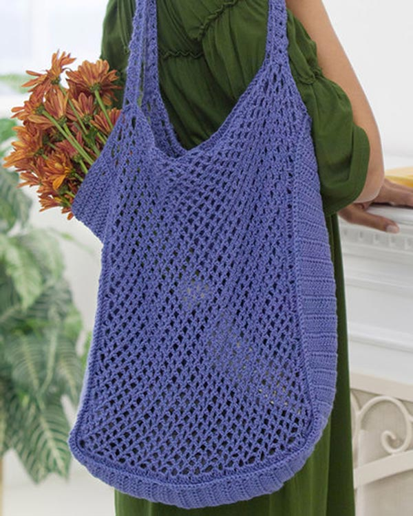 Free Mesh Yarn Crochet Patterns : Free Mesh Market Bag Crochet Pattern From RedHeart.com