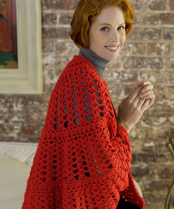 Free Have a Heart Shawl Crochet Pattern from RedHeart.com