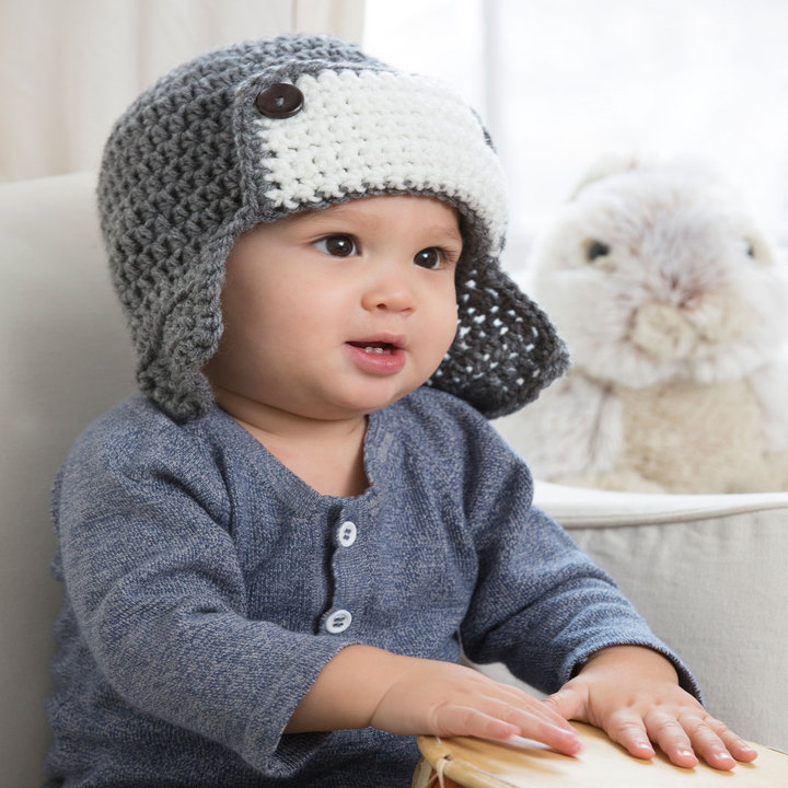 Free Little Lindys Aviator Hat Crochet Pattern From Redheart