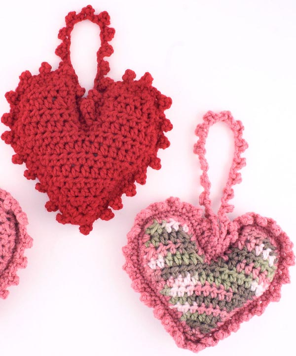 Crochet Heart : Free Sweet Heart Sachet Crochet Pattern from RedHeart.com