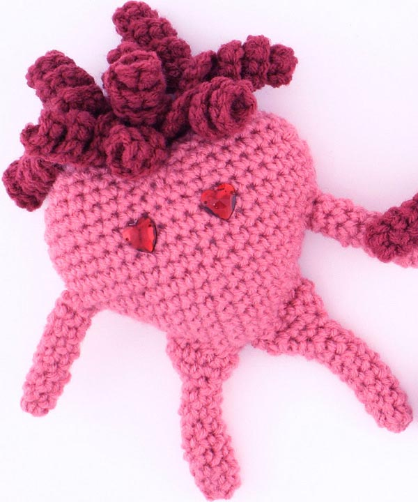 Free Crochet Patterns Red Heart : Free Amigurumi Heart Crochet Pattern from RedHeart.com