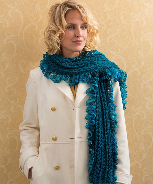 Free Crochet Patterns For Dressy Scarves : Free Vortex Scarf Crochet Pattern from RedHeart.com
