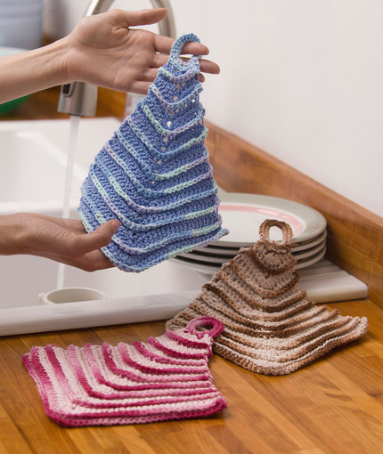 mitered dishcloths