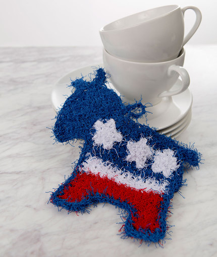 patriotic donkey scrubby