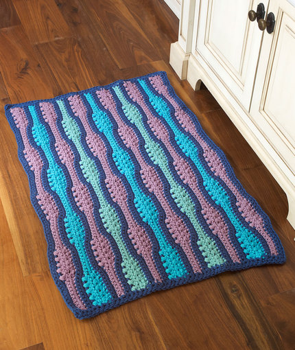 textured waves rug