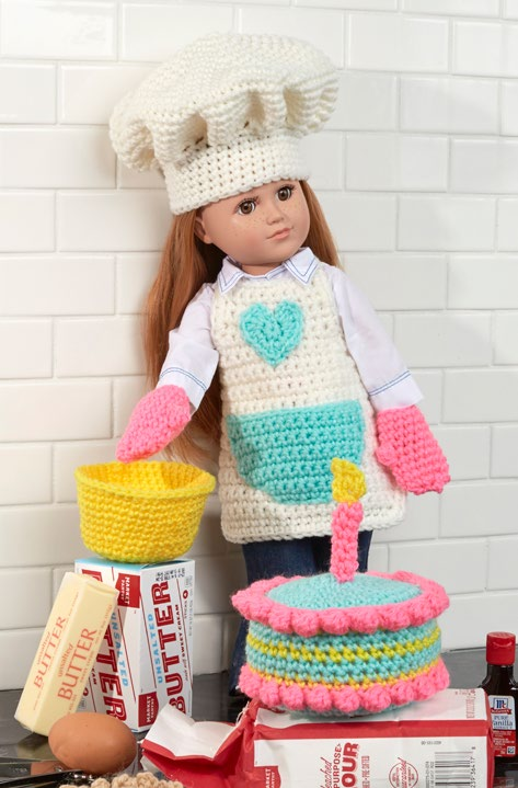 Free Baking Chef Doll Crochet Pattern from www.RedHeart.com