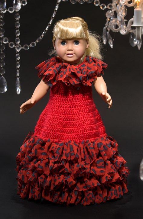 Free Debutante Doll Dress Crochet Pattern From Redheart