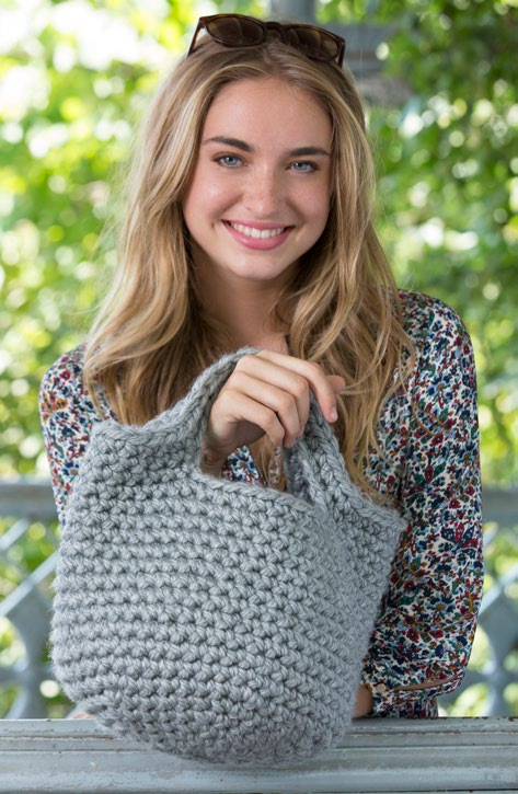 Free Charming Tote Crochet Pattern From Wwwredheartcom